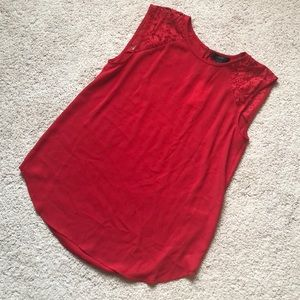 J. Crew Tops - J crew red sleeveless top